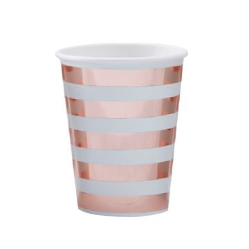 Hello World Mint & Gold Party Cups - pack of 8